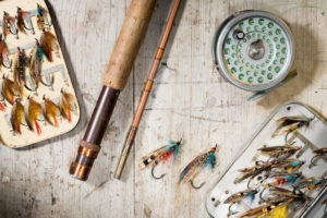 Fly fishing rod and tyes