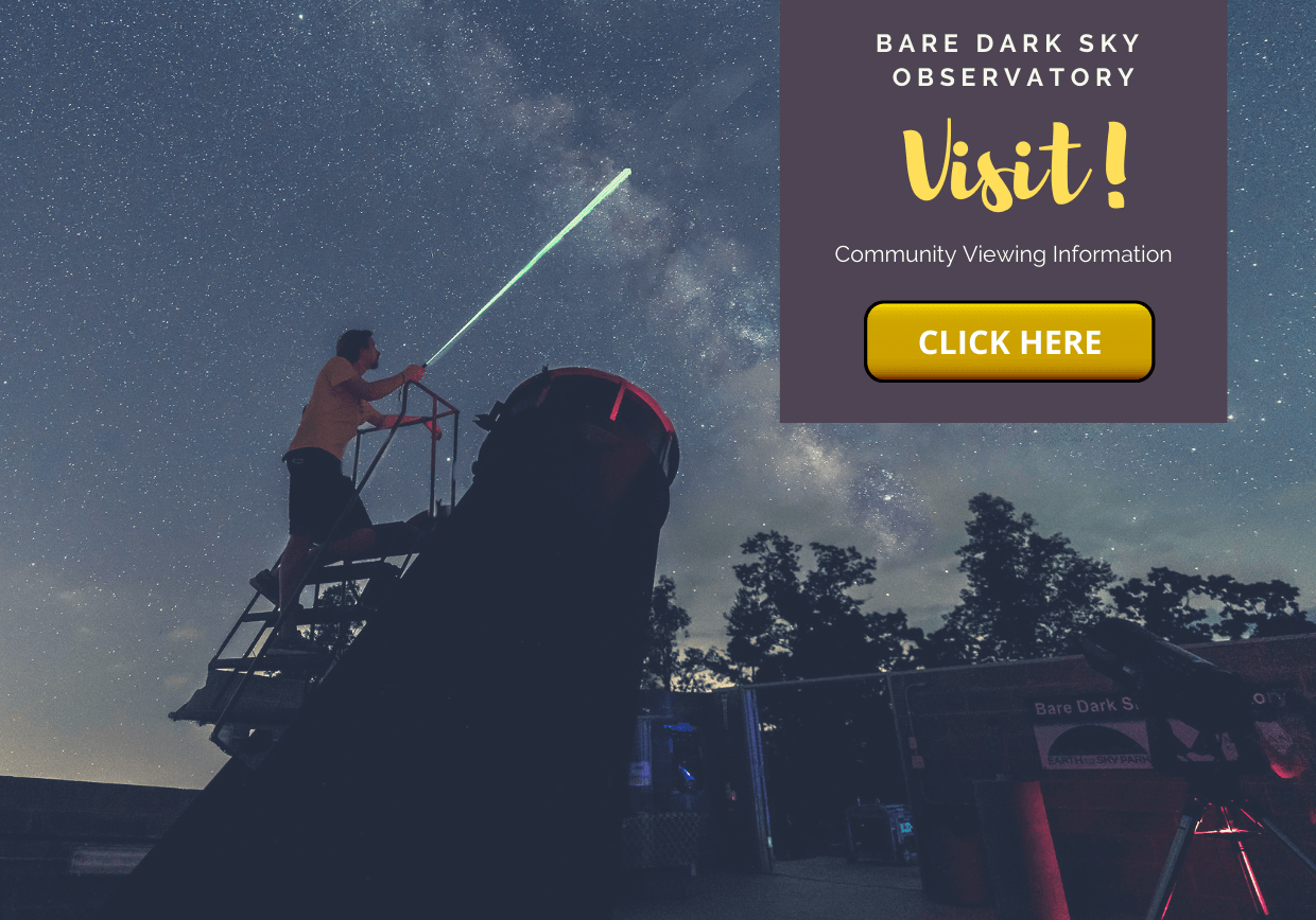 Bare Dark Sky Observatory - Man looking to the night sky