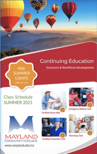 Continuing Education - Summer 2021 Catalog Cover